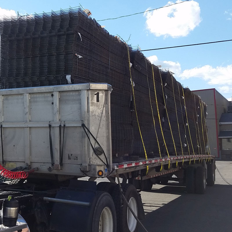 Wire Mesh on Truck